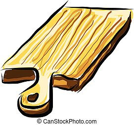 A chopping board, vector color illustration.