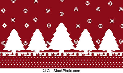 A christmas animation with fir tree Santa Claus deer and ...