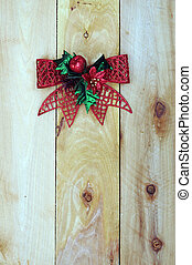 Christmas decoration on old wooden wall