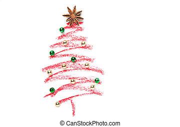 A Christmas Tree Drawn