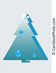 A christmas tree with decorations
