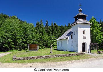 A Church in a field .