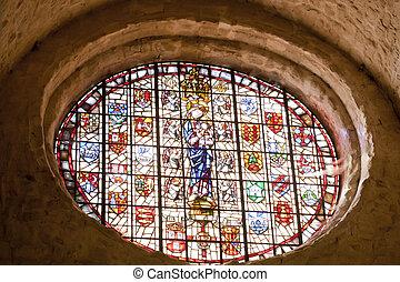 A church window
