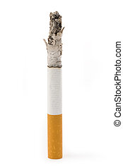 A Cigarette Butt with white background