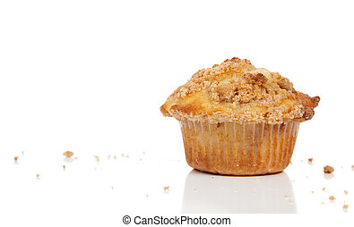 a Cinnamon streusel muffin - A Cinnamon struesel muffin on a...