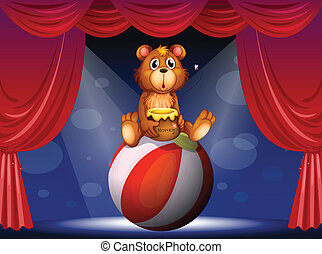A circus show with a bear