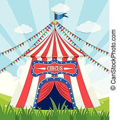 A Circus Tent at the Park