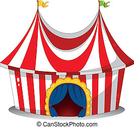 A circus tent - Illustration of a circus tent on a white ...