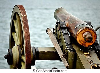 Civil War Cannon - A Civil War Cannon guarding the Harbor.