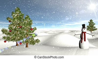 A Classical Winter Scene. Composited with my looping...