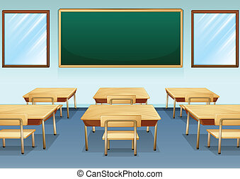 A classroom - Illustration of a clean and empty classroom
