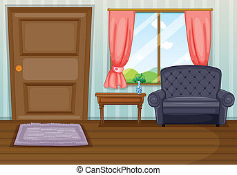 Illustration of a clean living room