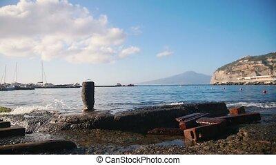 A clear blue sea bay in Sorrento