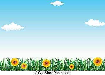 A clear blue sky - Illustration of a clear blue sky