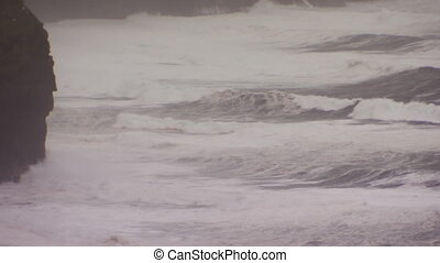 A cliff and ocean shot - A full shot of a cliff and ocean...