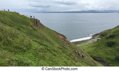 Clifftop view from the Isle of Skye in Scotland - A Clifftop...