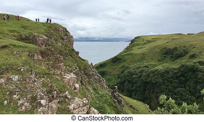 Clifftop view from the Isle of Skye - A Clifftop view from...