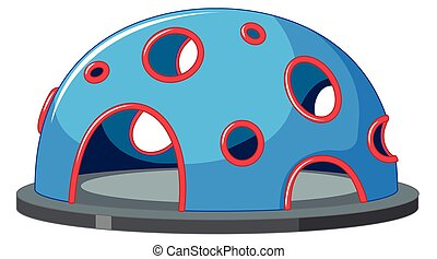 A climbing dome on white background illustration
