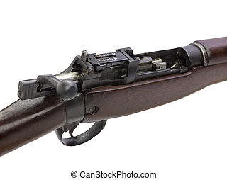 close up image of brown rifle