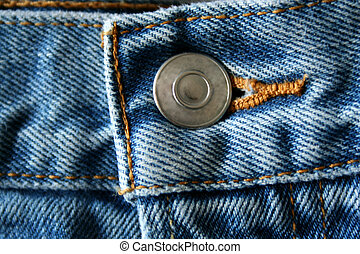 Blue Jeans Button