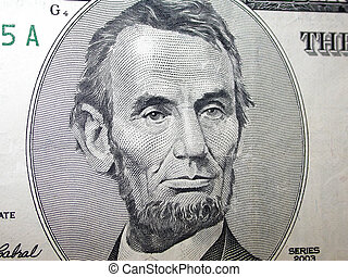 Abraham Lincoln - a close up of Abraham Lincoln's portrait ...