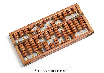 A close up of vintage abacus
