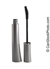 mascara - a close up on mascara isolated on a white ...