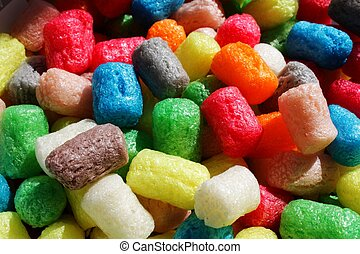 Colourful corn snacks - A close-up photo of Colourful corn...