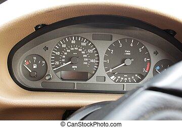 Speedometer, tachometer gauges