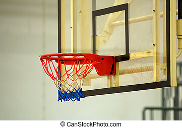 backboard - A close up view of the backboard of basketball