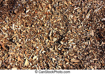 a close up view of woodchips ideal as a background image