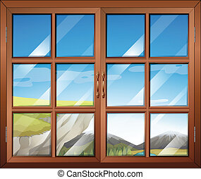A closed window