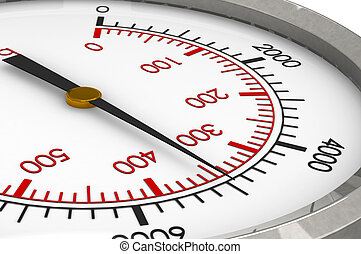 Pressure Gauge - A Closeup of a Hydraulic Pressure Gauge