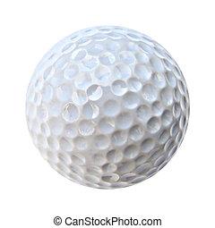 golf ball - a closeup of an isolated white golf ball
