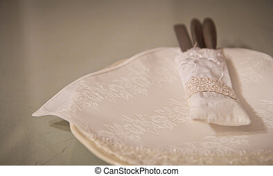 table setting for fine dining vintage style