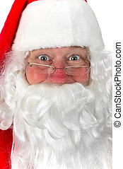 Santa Claus - A closeup photo of Santa Claus