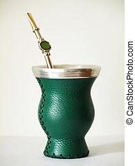 mate tea cup - a closeup shot of a mate tea cup