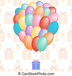 a cloud of balloons gift patterns seamless