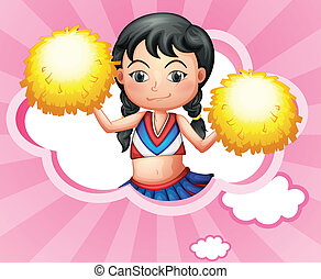 A cloud with a cheerleader