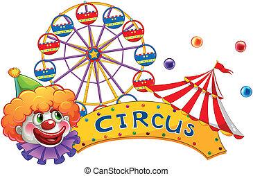 A clown at the circus show