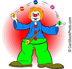 A Clown Juggler