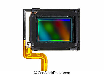 CMOS sensor - A CMOS sensor isolated over white background.