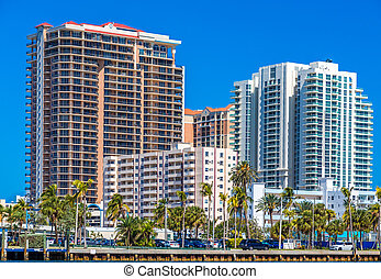 A Coastal Condo Building on the Intracoastal Waterway in...
