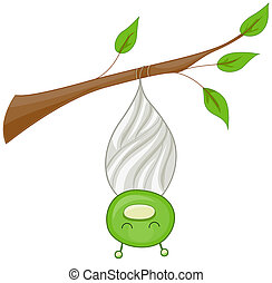 Cocoon - A Cocoon With the Insect Inside it Partially ...