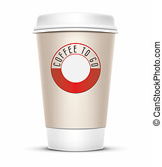 coffee to go - A coffee cup vector illustration with the...