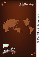 A Coffee Menu Template for Cafe and Coffeehouse