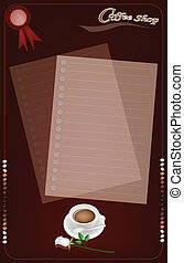 A Coffee Menu Templatefor Cafe and Coffeehouse