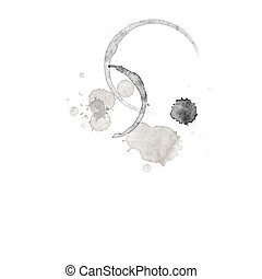 Coffee Stain - A Coffee Stain isolated in white background