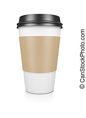 coffee to go - A coffee to go isolated on a white background