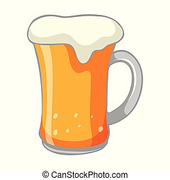 A Cold Beer on White Background